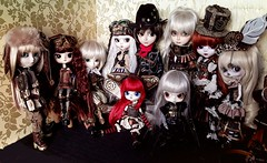Steampunk family (Lunalila1) Tags: doll groove steampunk family group eclipse taeyang pullip dal byul isul limited gyro eos moirai apollo ramuw missionary helios aurora icarus rhiannon