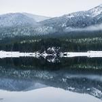 Keechelus Lake in the Winter; Snoqualmie Pass, WA thumbnail