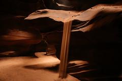 sands of time (almostsummersky) Tags: rock rockformation sand slotcanyon antelopecanyon sandstone erosion navajosandstone morning sandfall page upperantelopecanyon ledge sunlight arizona fall winter canyon thecrack