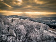 Kudłacze - DJI Mavic Pro (drone.quest.krk) Tags: landscape góry mountains przyroda polska beskidy mavic dji zima winter poland zachód słońca drone dron