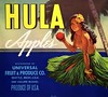 Crate Label: Hula Apples (1950s). Distributed by Universal Fruit & Produce Co., Seattle, Washington (lhboudreau) Tags: cratelabel label crateboxlabel crateboxlabels text art artwork illustration hulabrand lady woman applecratelabel lovelylady brand branding advertisement advertising shippingcratelabel pinup 1950 1950s sign seattle washington seattlewashington producecompany universalfruitproduceco universalfruitproduce produceofusa blackhair longblackhair flower skirt grassskirt palm palmtree water ocean hawaiiangirl hula hulaapples apple apples topless hawaiian hawaii logo produce product fruit fruits consumergoods boxlabel bracelet