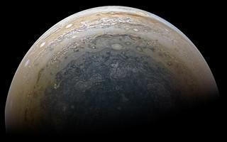 Jupiter's South Pole - Juno Perijove 11 - February 7 2018
