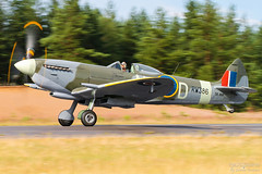 SE-BIR Supermarine 361 Spitfire LF16E, EFJM, Finland (Sebastian Viinikainen.) Tags: sebir supermarine biltema spitfire warbird efjm finland aviation 70d aircraft
