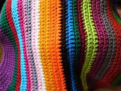 Rainbow Blanket! (springblossom3) Tags: crochet blanket wool macro rainbow hobby