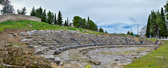 Ancient theatre of Orchomenos Panoramic View - Boeotia, Greece (Ava Babili) Tags: theater theatre antiquity orchomenos orchomenus boeotia architecture panorama