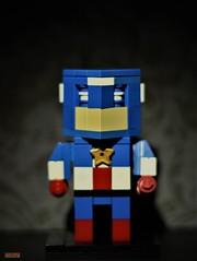 cubedude captain (notatoy) Tags: lego geek cubedude brick figures catain america marvel