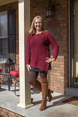 021818Porch_4723 (WindJammer Photo) Tags: february 2018 canon 2470mml 60d outdoor portrait home sweater skirt thighhigh boots highheel beauty beautiful gorgeous blonde wife smile