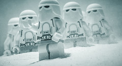 another day (on hoth) (jooka5000) Tags: snowtrooper starwars lego hoth system toyphotography snow winter cold freezing afterdark saturday