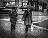 Umbrellas (Henka69) Tags: umbrella streetphotography street monochrome prague praha