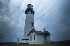 Yaquina Head Light (jamescoledesign) Tags: lighthouse landscape ocean sky oregon beach clouds waves coast architecture