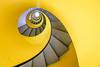 Geneva, Switzerland (gstads) Tags: geneva genève switzerland suisse swiss spiral spiraling stairs staircase yellow abstract architecture geometry geometric curve curves line lines escalier jaune amarillo suisseromande fibonacci