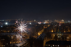 Happy NY 2018. (Stas_Ko) Tags: happynewyear wiewfromthewindow kirov city canon night 2018 firework street winter russia vyatka