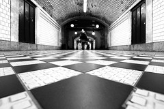 Chess Floor (CoolMcFlash) Tags: street streetphotography person candid vienna chess pattern floor bnw blackandwhite monochrome blackwhite pov perspective perspektive ground canon eos 60d wien schach muster boden bw sw schwarzweis fotografie photography sigma 1020mm 35
