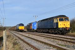 Class 47 and Class 37 (davidvines1) Tags: railroad rail train diesel locomotive class37 class47 rog railoperationsgroup foxton
