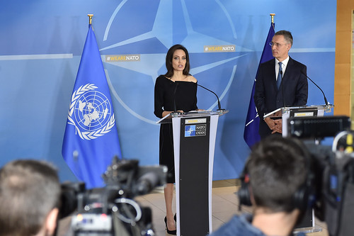 Visit to NATO by Angelina Jolie, Special Envoy for the United Nations High Commissioner for Refugees