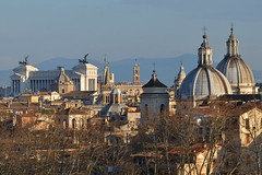 Rome skyline (Thomas Roland) Tags: vatican city vatikanet historical castel santangelo mausoleum hadrian rome rom roma italia italy italien europe europa travel rejse holiday by stadt roman tourist tourism destination visitors skyline cityscape domes church kirke roof rooftop view udsigt