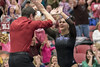 DU Gymnastics - Nikole Addison (brittanyevansphoto) Tags: collegegymnastics ncaagymnastics denvergymnastics floorexercise celebration highfive coach