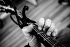 Guitar (christophermichaelnichols) Tags: guitar capo black white bw vsco