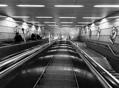 travel street photography (Eggii) Tags: munich underground station monochrome blackandwhite