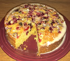 Cranberry Orange Cornbread Cake (esywlkr) Tags: cake baking cornbread food dessert nc wnc haywoodcounty northcarolina