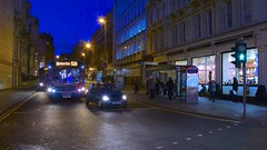 Night Bus to Netherton (TERRY KEARNEY) Tags: bluehour bus city cityscape liverpoolcitycentre car automobile transport comute comuter architecture buildingsarchitecture buildings road street canoneos1dmarkiv explore europe england kearney liverpool merseyside oneterry outdoor people streets terrykearney urban 2018 nighttime night shops building sky intersection sidewalk
