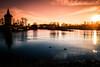 Sunset (Maria Eklind) Tags: pildammsparken ice winter sunset reflection himmel spegling sky outdoor solnedgång sweden malmö light skånelän sverige se