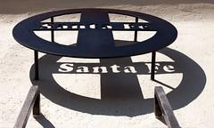 Santa Fe sign and shadow at the restored Monrovia (Santa Fe) Depot. (KeithJ) Tags: monrovia california stationsquare santafe depot restored sign shadowletters restaurant