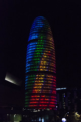proud (rsantinphoto) Tags: llumbcn 2018 llumbcn18 light colour night urban barcelona lgbt agbar tower torre skyscraper