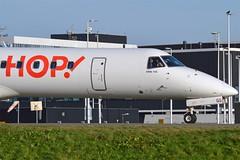 Hop! F-GRGG Embraer ERJ-145EU cn/14500118 @ EHAM / AMS Taxiway Q 28-12-2015 (Nabil Molinari Photography) Tags: hop fgrgg embraer erj145eu cn14500118 eham ams taxiway q 28122015