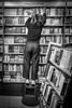 If you don't see the book you want on the shelf, write it. (Markus Binzegger) Tags: markus binzegger markusbinzegger street photography fotografie streetphotography streetfotografie olympus omd em10 monochrome black white blackandwhite