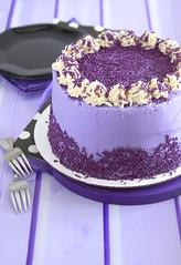 Purple Sweet Potato Cake (Layer Cake Parade) Tags: purplesweetpotatocake purplesweetpotato sweetpotato purple layercake cake dessert sweets foodphotography foodstyling
