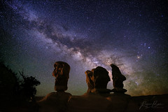 "American Moai (IronRodArt - Royce Bair (""Star Shooter"")) Tags: escalante grandstaircaseescalantenationalmonument utah devilsgarden milkyway stars starrynightsky starrynight nightphotography nightscape nightscapes"