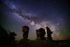 "American Moai (IronRodArt - Royce Bair (""Star Shooter"")) Tags: escalante grandstaircaseescalantenationalmonument utah devilsgarden milkyway stars starrynightsky starrynight nightphotography nightscape nightscapes"