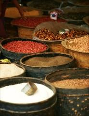 Spices and seeds (*Kicki*) Tags: seeds myanmar burma inlelake shanstate inle inlaylake inlay market hand spices food tharlay tarlay