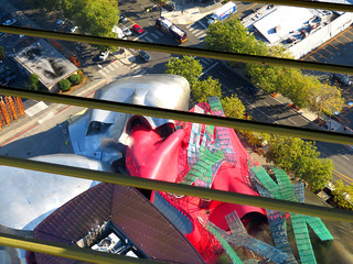 Gehry seen from the Space Needle.