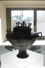 8th century BC cremation urn from Olmo Bello - Rome Spring 2018 National Etruscan Museum at the Villa Julia. (Kevin J. Norman) Tags: italy rome etruscan villa julia giulia etrusca juliusiii olmo bello