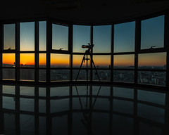 Window (andrewconnolly673) Tags: asia dawn legacy southkorea ulsan building window sky silhouette reflection light architecture glass room sunset city dusk nature noperson large outdoors indoors daylighting redsky travel glassitems overlooking sunrise view people darkness area shadow symmetry sitting sea evening body dock door sun housing urban river roof cage air standing bridge