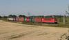 DB 155 205 + Güterzug/goederentrein/freight train - Genshagener Heide Schweineohr (Rene_Potsdam) Tags: br155 genshagener heide railroad deutsche bahn