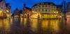 Waiblingen Marktplatz I (dorisfricke) Tags: badenwürttemberg blauestunde waiblingen fachwerk nacht spiegelungen