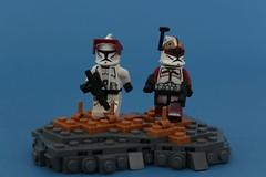 Updated 253rd Squad. (Jan, The Creator) Tags: 253rd clonewars minifig sigfig lego purist clone trooper custom