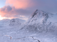 A segment (chrismarr82) Tags: nikon scotland highlands glencoe buachaille d750 sunrise clouds sun snow winter