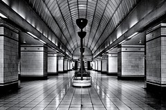 Gants Hill Tube Station (andycurrey2) Tags: leica mono bnw london underground tube scan blackandwhite analogue architecture