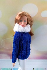 Barbie doll clothes. Hand-knitted blue sweater, white leggings and white snud for 12 inch Barbie dolls (uliakiev) Tags: barbie barbiedoll barbiedollclothes barbieclothes barbiesweater barbiecollector barbiecollection barbiefan barbiefashion barbieclothing barbiedolls barbiestyle barbiestream barbiecrochet barbieknit dollclothes dollsweater dollknitting
