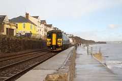 153318 Dawlish, Devon (Paul Emma) Tags: uk england dawlish devon railway railroad dieseltrain train sea coast beach 153318