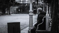 Alone (villadacrus) Tags: blancoynegro bnw dark tristeza soledad loneliness canon760d old sad banco mood feelings