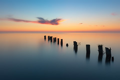 Fifty Point (B.E.K. Photography) Tags: fiftypoint grimsby ontario canada sunrise longexposure lake pier abandoned decay water sky cloud nikond800 nikon2470f28 outdoor landscape