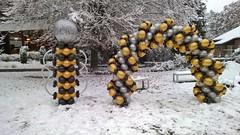 winterse ballondecoratie