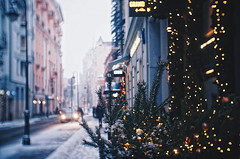 Winter morning IV (AzureFantoccini) Tags: winter moscow russia street snow snowing new year newyear christmas holidays architecture lights fujian sonynex decorations morning