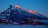 Caressing The Ridge (stevenbulman44) Tags: rundle banff alberta canon mountain landscape color bluesky 2470f28l lseries winter