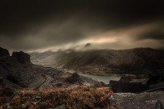 Dinorowic Storms (Geoff Moore UK) Tags: stormclouds mountainpass slatequarry dinorwicquarry quarryterreces outdoors hill mountains wals snowdonia high wet rain storm storms